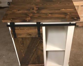Small Sliding Barn Door Vanity
