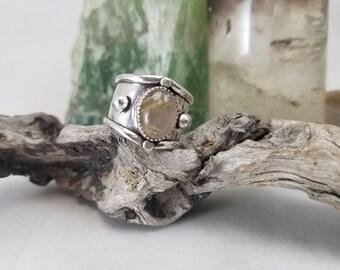 Boho Rutilated quartz ring