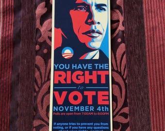 "President Barack Obama : ""Right to Vote"" Hope Flyer"