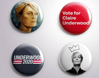 4 CLAIRE UNDERWOOD House of Cards Tv 2020 - pins / buttons / magnets - Different options