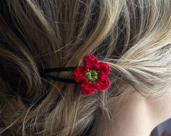 * Crochet Spring Flowers Colors * Duo of pins clips
