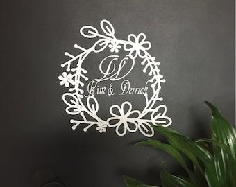 Custom Wedding Decal, Wedding Decal, Wedding Gift