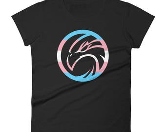 Trans Pride Hawk Women's short sleeve t-shirt lgbt lgbtqipa lgbtq mogai pride flag