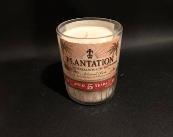 HANDCRAFTED Candle UP-CYCLED  750ML Plantation Rum Bottle Soy Candle. Made To Order !!!!!!!