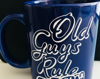 Old Guys Rule coffee mug