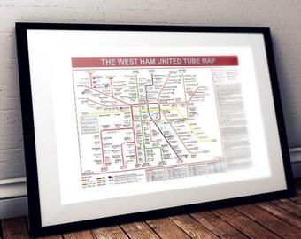 The West Ham United Tube Map