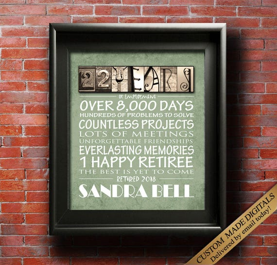 Wedding Gift Ideas For Coworkers: Retirement Gifts PRINTABLE Retirement Gift For Coworker