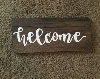 Welcome || Wood Sign