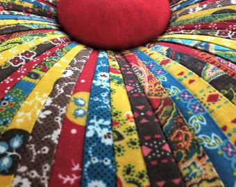 Torrington Place Tuffet Pillow by Dalgleish Clothworks
