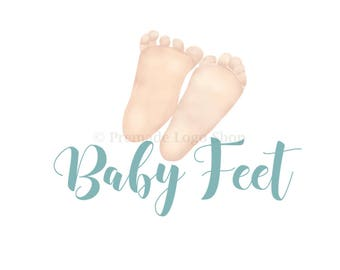 Baby Feet Logo, Custom Logo Design, Hand Drawn Design, Photography Logo, Feet Logo, Nursery Logo, Baby Logo