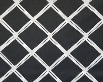 VL Black Diamonds Polyester Cotton Blend Fabric