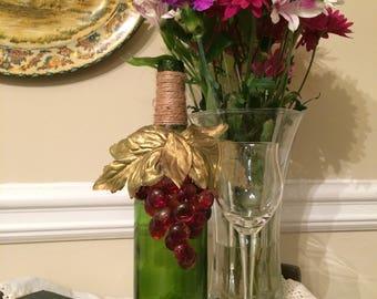 Vineyard Inspired Wine Bottle