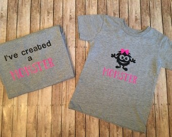 Ive created a monster and monster matching shirt mommy and me set monster toddler womens dad daddy and me monster set shirt set monster