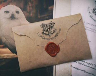 Personalized  Hogwarts Acceptance Letter/Hogwarts acceptance letter envelope/Wizard Acceptance Letter/Hogwarts seal stamp/wizard letter