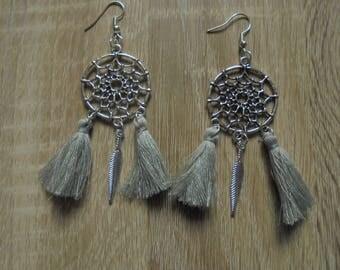 """""""Dreamcatcher"""" Silver earrings"""