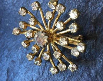50s   Sputnik brooch -  Space Travel 50s - 25 stones-