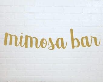 Mimosa Bar | Mimosa Bar Banner | Mimosa Bar Sign | Bridal Shower Sign | Mimosa Sign | Mimosa Banner | Bridal Shower | Bridal Shower Banner