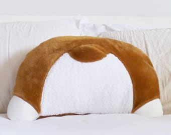 Corgi Booty Pillow - Back Pocket - Corgi Gifts - Corgi Butt - 22 x 16 in