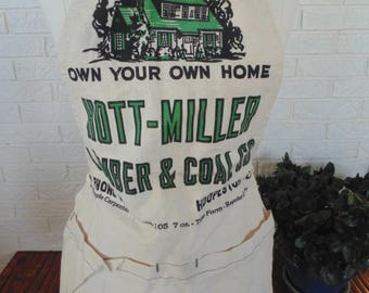 Vintage/NEW unused nail apron Own Your Own Home Hott Miller Hooperston ILL