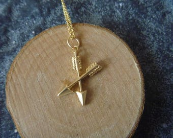 arrow double necklace