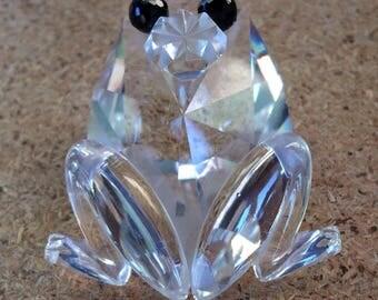 Swarovski Crystal Frog-Swarovski Frog-Crystal Prince Charming Frog-Vintage Frogs-Swarovski Crystals-Swarovski Animals-Silver Bay Crystals