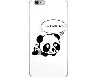 I Love Weekends iPhone Case - Iphone 7 case - Iphone 8 case - Iphone 7 plus case - Iphone 6 case - Iphone X case