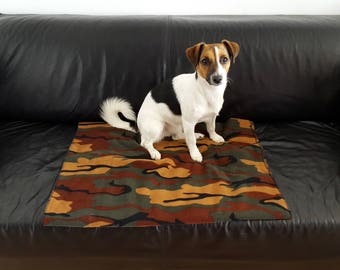 Fleece Dog Blanket in choice of colours and sizes