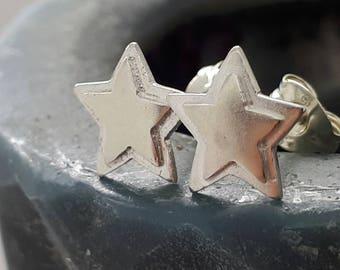 Stud Earrings, Star Studs, Silver Earrings, Everyday Earrings, Simple Earrings, Dainty Earrings, Silver Jewellery, Silver Earrings