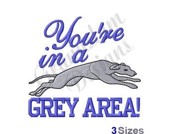 Greyhound Dog - Machine Embroidery Design
