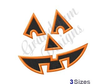 Pumpkin Face - Machine Embroidery Design