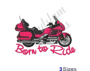 Honda Motorcycle - Machine Embroidery Design