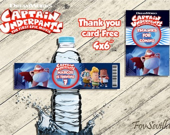 captain underpants bottle label,captain underpants birthday party,captain underpants party,captain underpants label,captain underpants