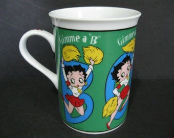 Betty Boop Fine Porceline Collector's Mug by Danbury Mint, Gimme A Boop Mug, Cheerleader Mug
