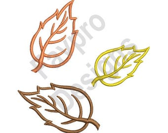 Fall Leaves Outline - Machine Embroidery Design