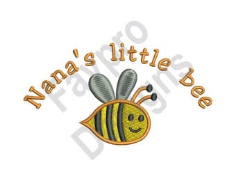 Nanas Little Bee - Machine Embroidery Design