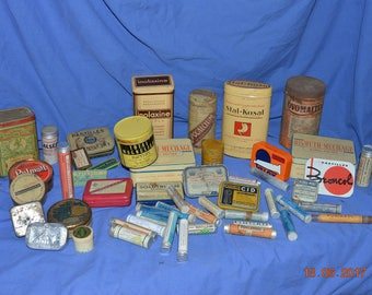 Vintage medicine boxes