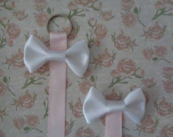 Baby Pink and White Bow Display  | Bow Hanger | Hair Bow Display | Hair Bow Tidy | Hair Bow Holder