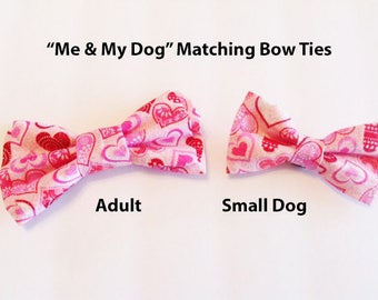 Bow Tie, Mens Bow Tie, Dog Bow Ties, Matching Dog Bow Tie, Dad and Son Bow Tie,  Valentines Bow Tie, Dog Bowtie, Bowtie, Boys Bow Tie  DS747