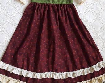 Vintage Little Girls Christmas Dress