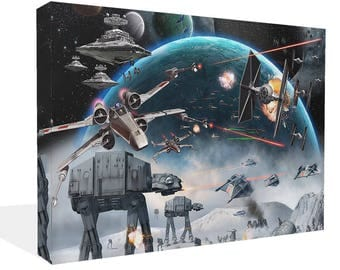 Star Wars Empire Strikes Back Canvas Print Wall Art AT AT Hoth  Picture Photo Poster