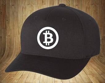 Bitcoin Flexfit Hat, High Quality, Crypto BTC