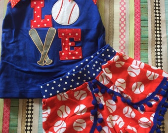 Red white and blue ball clothing set