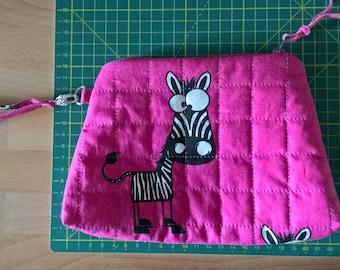 Crazy pink zebra