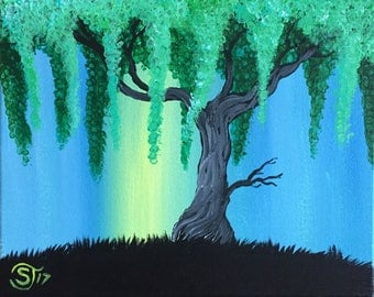 Weeping Willow Painting