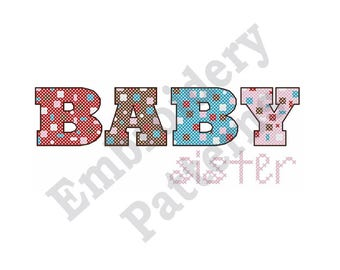 Baby Sister - Machine Embroidery Design