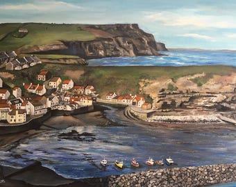 Beautiful Staithes - fine art coastal print