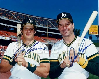Jose Canseco & Dave Kingman signed 8x10 Autograph RP - Great Gift Idea - Ready to Frame photo picture