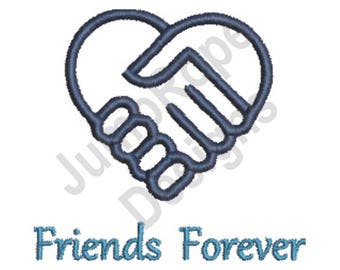 Friends Forever - Machine Embroidery Design