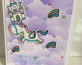 Handmade card - write your own fairytale