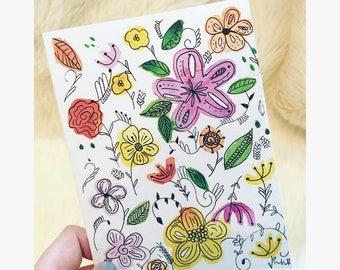 Greeting Cards-Blank inside- Floral design